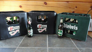 European Beer bottles and plastic cases