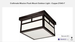 *** New Porch and Garage Lights - Craftmade!!!