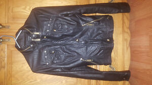 Women's xxs leather le chateau bomber jacket