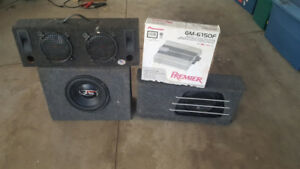 PIONEER  AUTO AMP AND SPEAKERS