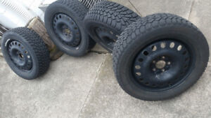 4 Winter Tires with 4 winter rims. Amazing Condition