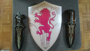 Daggers and shield