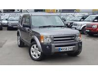 2008 LAND ROVER DISCOVERY 3 TDV6 HSE STORNAWAY GREY WITH BEIGE LEATHER LOW M