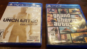 Grand theft auto V Uncharted collection ps4