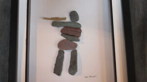 """Hunter"" rock art by Deb Humen"