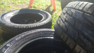 All season tires barely used. 195 65 15's