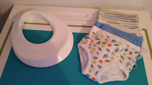 Toilet Trainer and 7 toddler underwear $20
