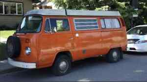1974 Volkswagen Camper Van Orange