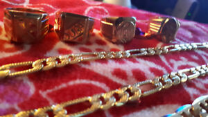 Selling 3,18K gold mens chains and 4,18K gold mens rings size 10