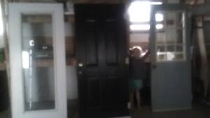 Steel  exterior.  Doors