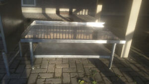 36 INCH STAINLESS STEEL TABLE