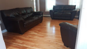 Leather Sofa, Loveseat & Chair