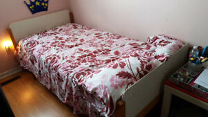 Wooden Single IKEA Bed (With or without foam mattress)