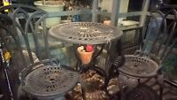 Cast Iron Chairs and Table