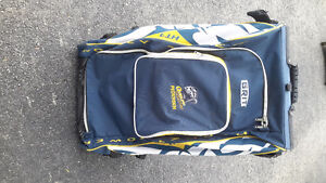 Grit blue, white and gold hockey bag