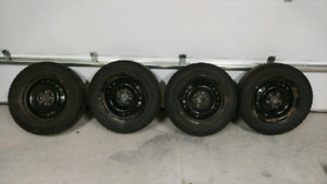 2012 up Ford Focus winter rims and tires.