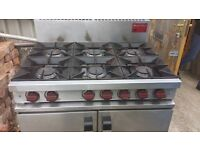 5 burner commercial range