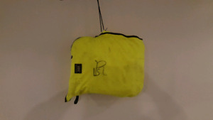Safety rain gear with bag. Size is med/large.