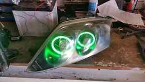 2003-2006 hyundai tiburon custom headlights with green ccfl halo London Ontario image 6