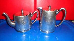 Vintage CPR Tea and Cream Silver Set $100. Prince George British Columbia image 1