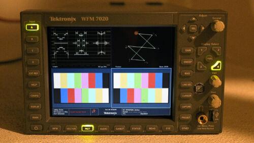 Tektronix WFM 7020 Waveform Monitor sd/hd/3g OPT: SD HD AD DL 3G