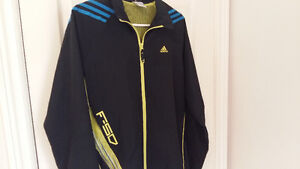 Black, yellow and blue Nike spring jacket