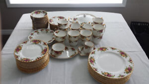 Royal Albert Old Country Rose China - $300