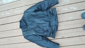 motorcycle riding leather jacket