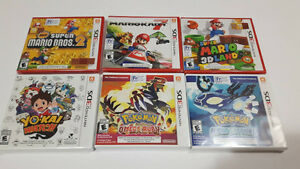 Jeux de Nintendo 3Ds Pokemon, Yo-Kai Watch, Super Mario