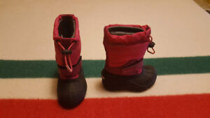 Girl's Toddler Columbia Winter Boots - Like New Condition