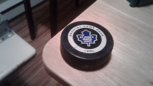 St.john's maple leafs official game puck.I have more ads thanks St. John's Newfoundland image 1