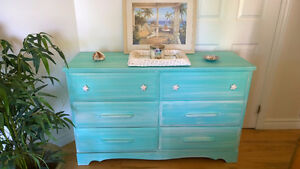 Life's A Beach Dresser with Starfish Handles ! So Adorable !