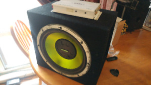 Fusion subwoofer and Rampage Amp