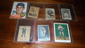 EARLY  mid 1900s TOBACCO SPORTS CARDS - boxing, Hockey, football