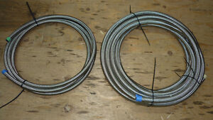 STAINLESS BRAIDED Rubber Nitrile HOSE  - 8, -10