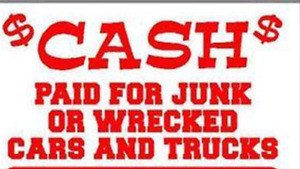 unwanted cars trucks and SUVs top dollar paid from $150-$5000