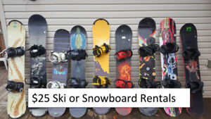 Snowboard and Ski Rental $25! Blue Mountain Trips for $40