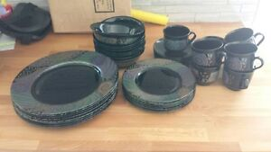 40 Pieces of Black Dishes - Mint Condition ** REDUCED ** Kawartha Lakes Peterborough Area image 1