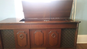 Beautiful antique record player and radio
