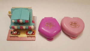 Vintage Polly Pocket Compacts and Pizza Cottage No Figures