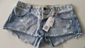 NEW Element Women Jeans and Lace Shorts, Size 26