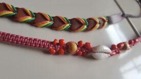 2 Fabric braided unisex bracelets