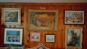 Vintage ART SALE Quality oil paintings various artists West Island Greater Montréal image 2