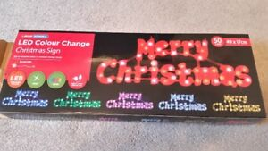 "New ""Merry Christmas"" LED Sign"