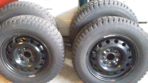 215 70 16 snow tires & rims
