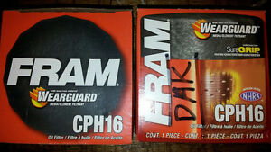 Two Fram CPH16 Oil Filters