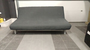 Ikea Sofabed Futon Dark Grey Cover