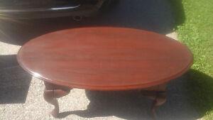 Solid wood oval coffee table Stratford Kitchener Area image 2