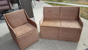 Kids couch & chair set (with storage)