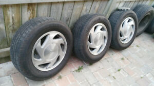 4 Tires with rims 215 65 15